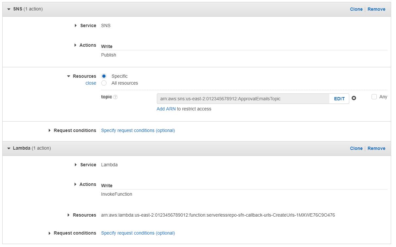 借助 AWS Step Functions 将回调 URL 用于批准电子邮件