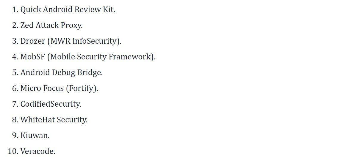10款最佳移动App安全测试工具