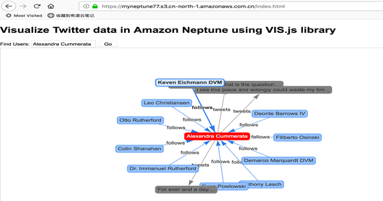 通过无服务器架构实现Amazon Neptune图数据库数据分析可视化