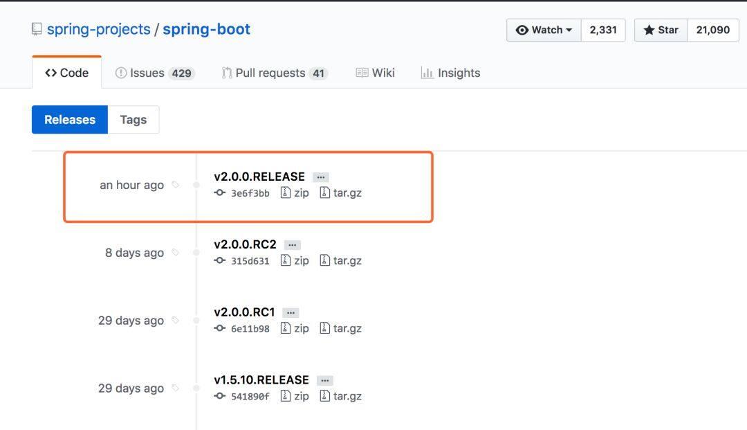 Spring Boot 2.0正式发布,新特性解读