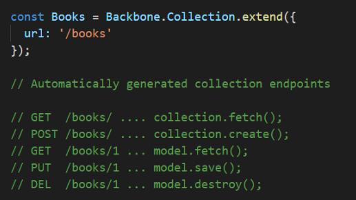 Backbone.js 中自动生成的集合方法图