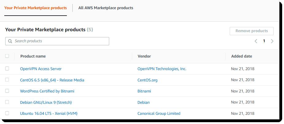 AWS Marketplace 推出 Private Marketplace,让软件采购管理变得更轻松