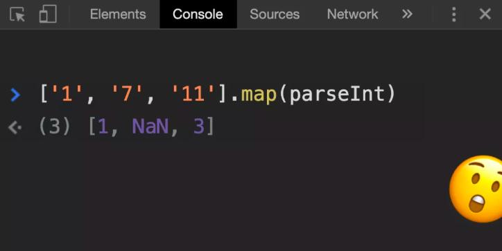 奇怪的JavaScript:map和parseInt的反常应用
