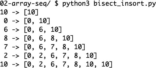 流畅的Python(30):序列构成的数组 2.8.2