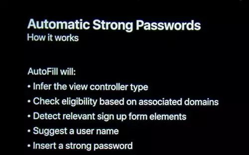 WWDC18 Automatic Strong Passwords and Security Code Autofill