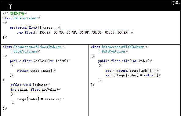 通过索引器简化C#类型信息访问