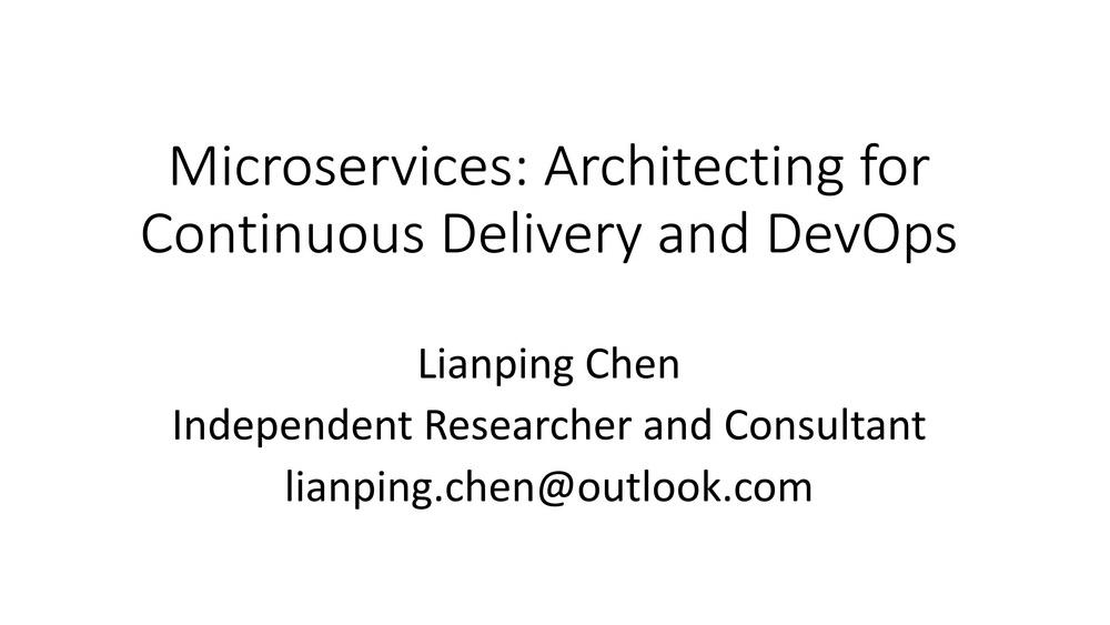 微服务——构建持续交付与DevOps架构
