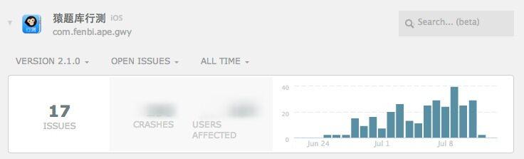 iOS开发工具——统计Crash的工具Crashlytics