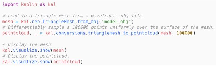 英伟达重磅开源Kaolin:基于PyTorch的3D深度学习加速工具