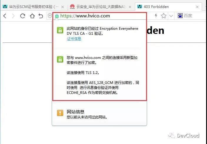 华为云SCM证书服务初体验(二)DNS验证与部署SSL