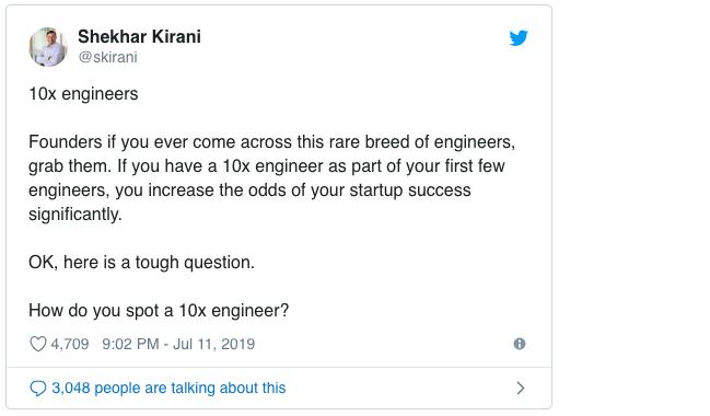 什么是真正的10x工程师?