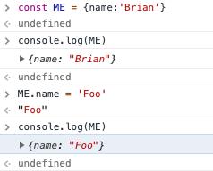JavaScript常量真的不可变吗?
