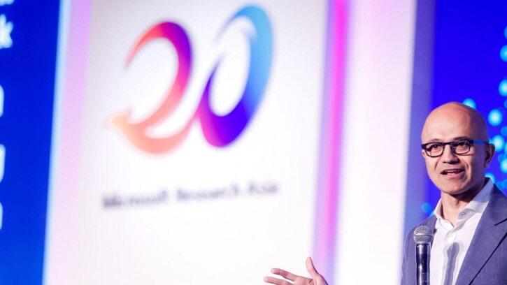 微软亚研20周年,纳德拉来华庆祝