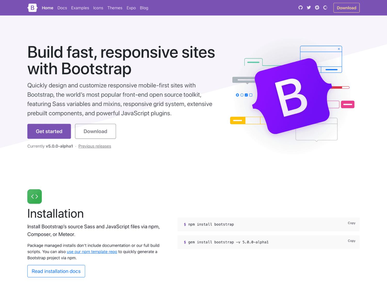 Bootstrap 5 Alpha发布!不再依赖jQuery,放弃支持IE