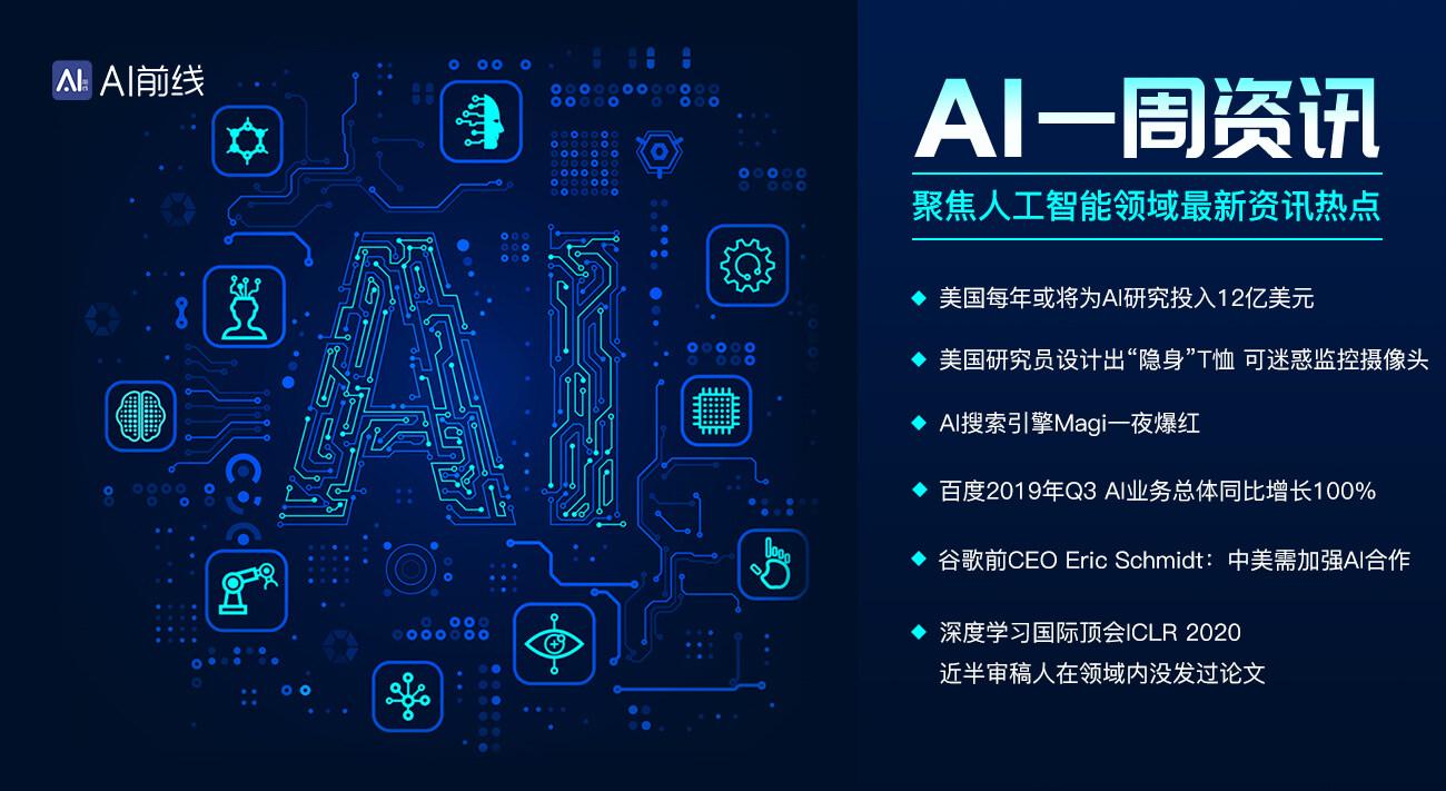 AI搜索引擎Magi一夜爆红;美国每年将为AI研究投入120亿美元;ICLR 2020近半审稿人没发过相关论文   AI一周资讯