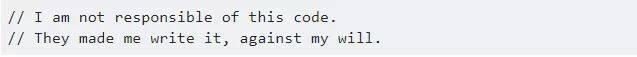 你见过哪些有趣的代码注释? | 话题