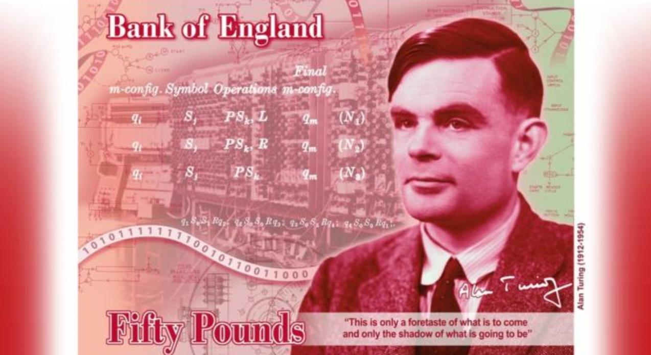 """荣耀属于智能计算,""""人工智能之父""""图灵登上50英镑新钞"""