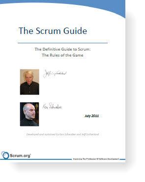 Ken Schwaber和Jeff Sutherland发布了新版的Scrum指南