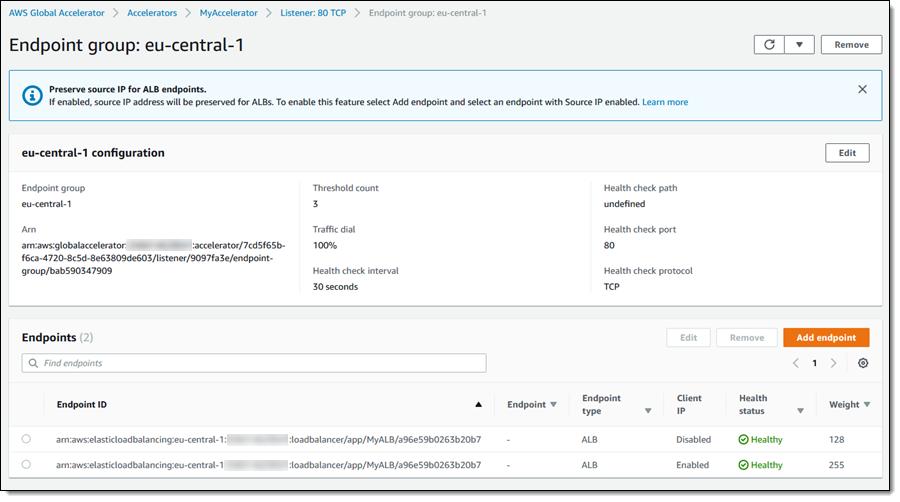 AWS Global Accelerator 的客户端 IP 地址保护