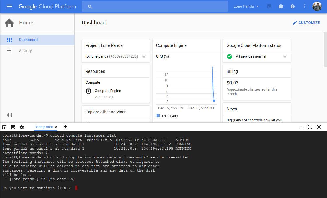 Google Cloud Shell继续免费到2016年底
