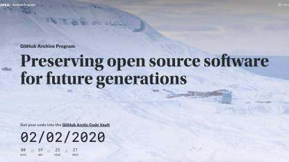 GitHub启动代码永久保存计划,至少一千年
