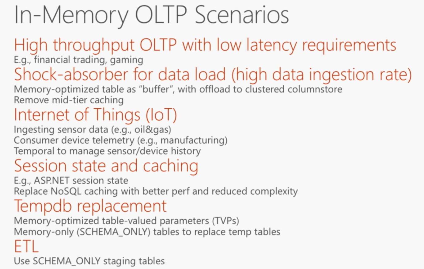 使用内存技术提升Azure SQL数据库的性能